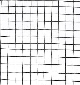 Rico Design Tafelzeil Check Karo wit/zwart 25x70cm