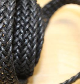Gevlochten tassenband Zwart 25mm