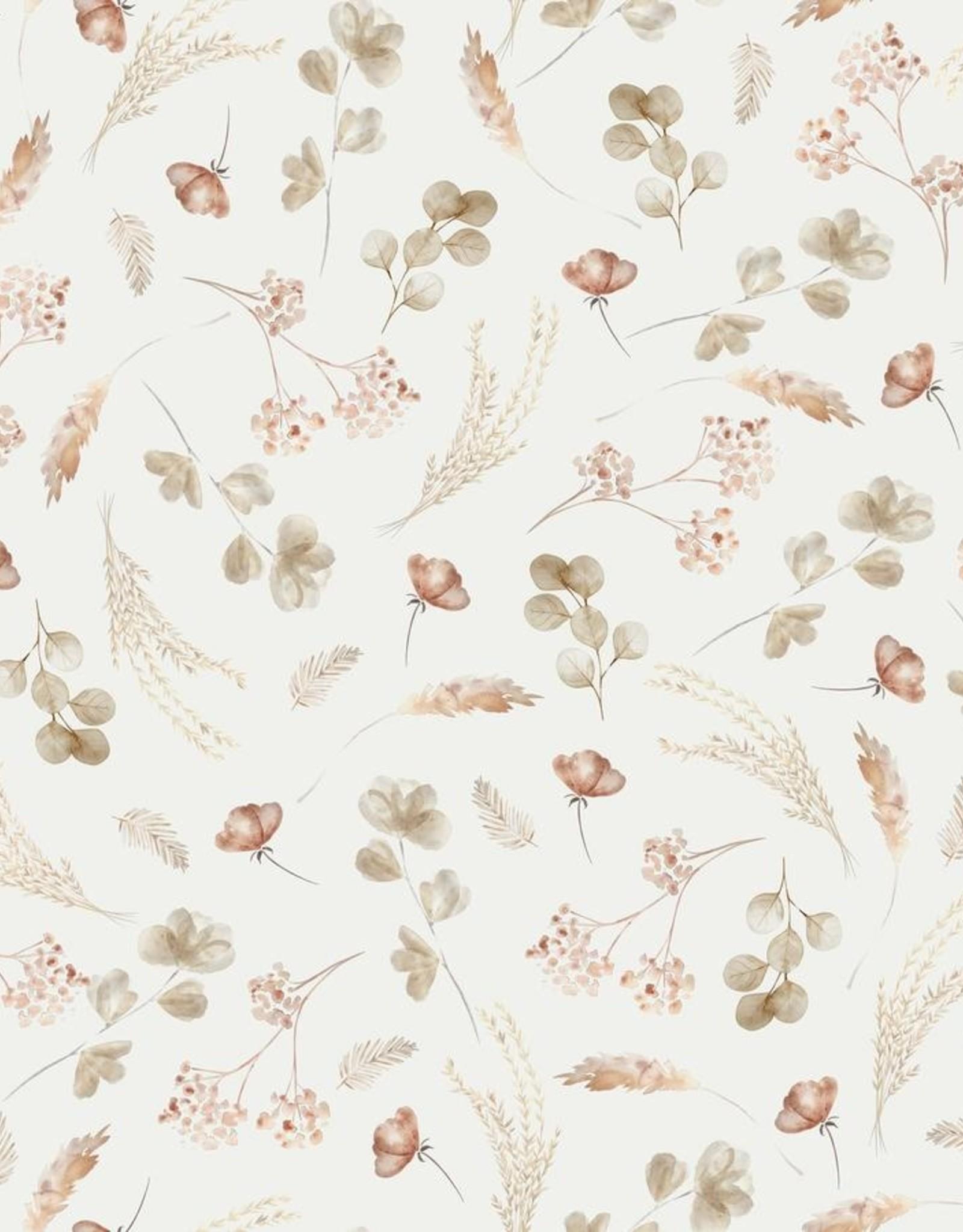 family fabrics Romantic Dried Flowers jersey