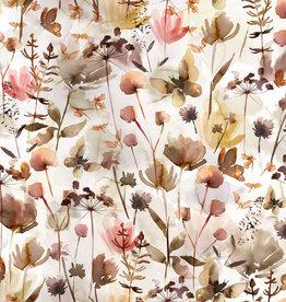 family fabrics Wild Flowers jersey