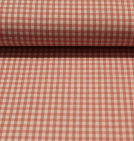 Poppy Katoen poplin check small rose