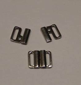 bikini slotje 14mm zilver metaal