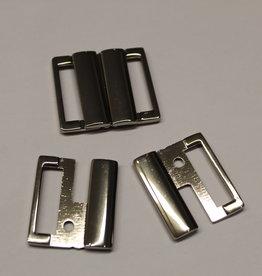 bikini slotje 25mm zilver metaal