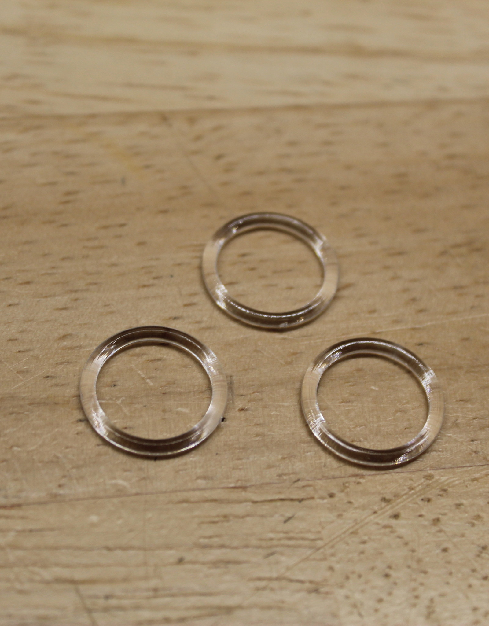 Bikini/bh ringetjes 10mm transparant
