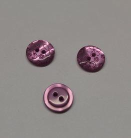 knoop rond gebloemd paars 15mm
