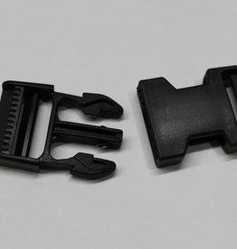 Klikgesp zwart 30mm
