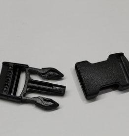 Klikgesp zwart 25mm