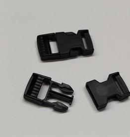 Klikgesp zwart 16mm