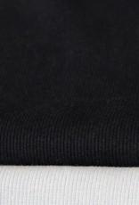 COUPON boordstof fijne rib zwart 35cm tubular x30cm