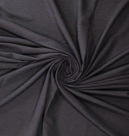 COUPON Gabardine antraciet mélange 55x140cm