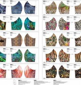 Paneel voor mondmaskers dierenprints