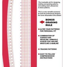 Meetlat French Curve met gradenboog