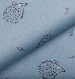 swafing Mini-Forest sweat Lief Egeltje babyblauw