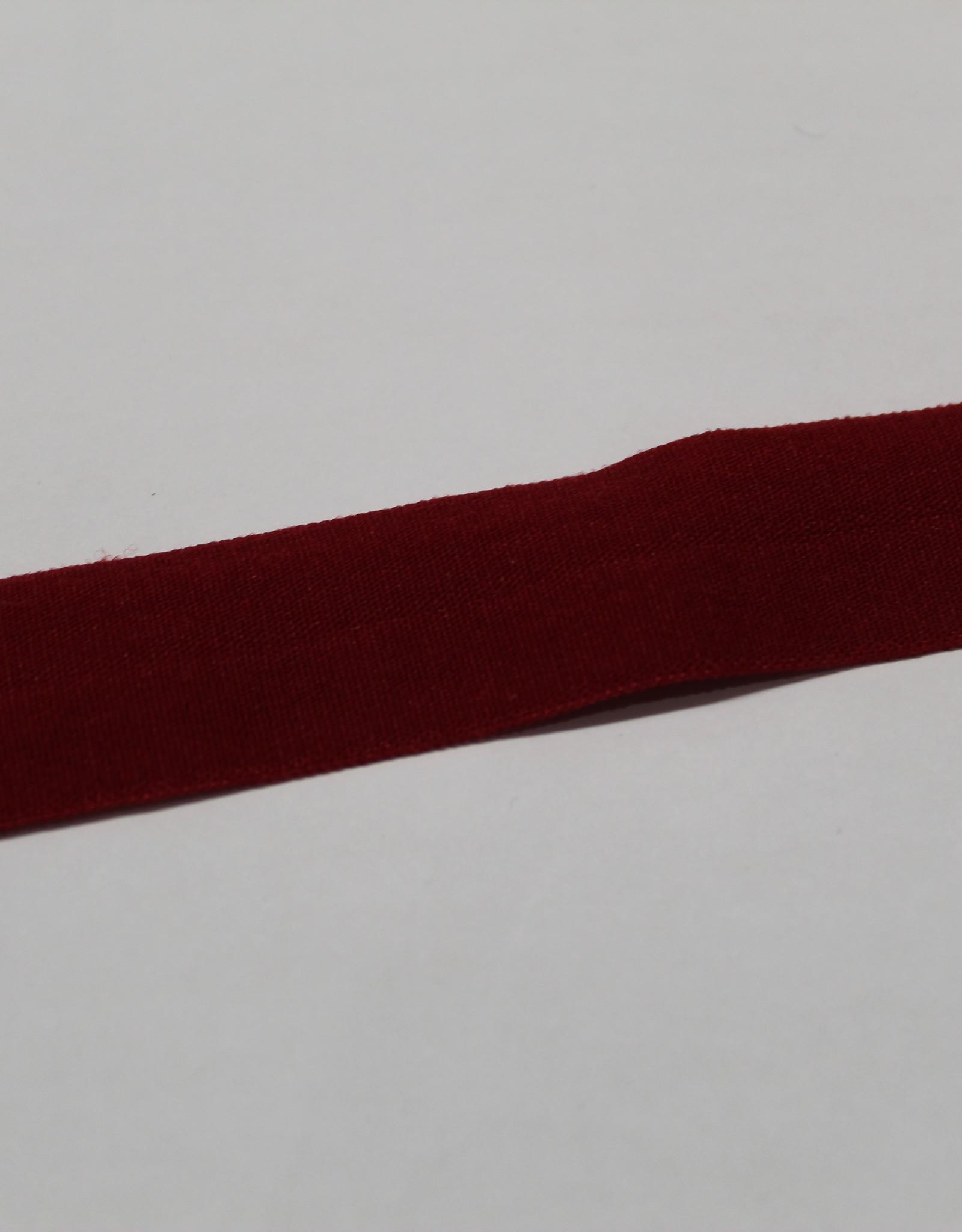 Elastisch biais - lint met vouwlijn bordeau 19mm