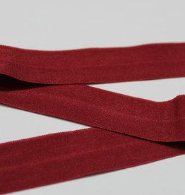 Elastisch biais - lint met vouwlijn bordeau 20mm
