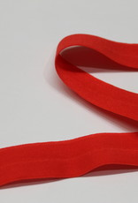 Elastisch biais - lint met vouwlijn rood 20mm