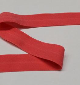Elastisch biais - lint met vouwlijn roze 20mm