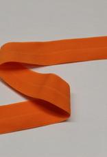 Elastisch biais - lint met vouwlijn oranje 20mm