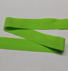 Elastisch biais - lint met vouwlijn lime 20mm