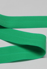 Elastisch biais - lint met vouwlijn groen 20mm