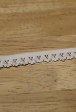 Elastisch kant 13mm - lint met kant wit