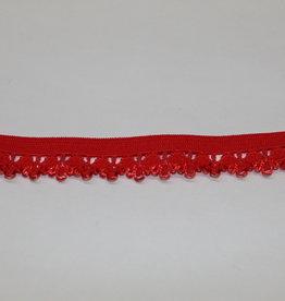 Elastisch kant 13mm - lint met kant rood