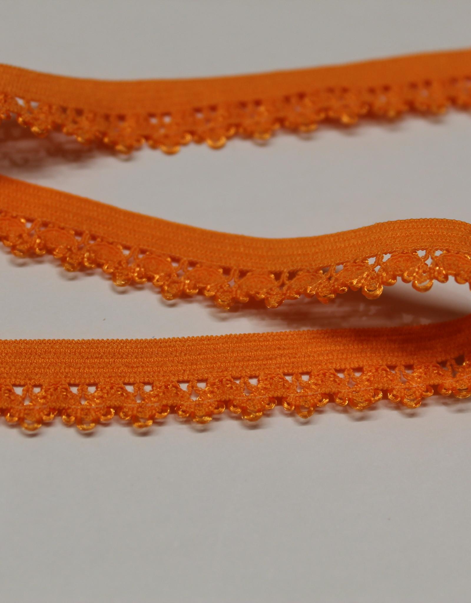 Elastisch kant 13mm - lint met kant oranje