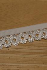 Elastisch kant 19mm - lint met kant wit