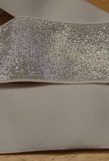 Elastiek wit zilveren glitter 40mm