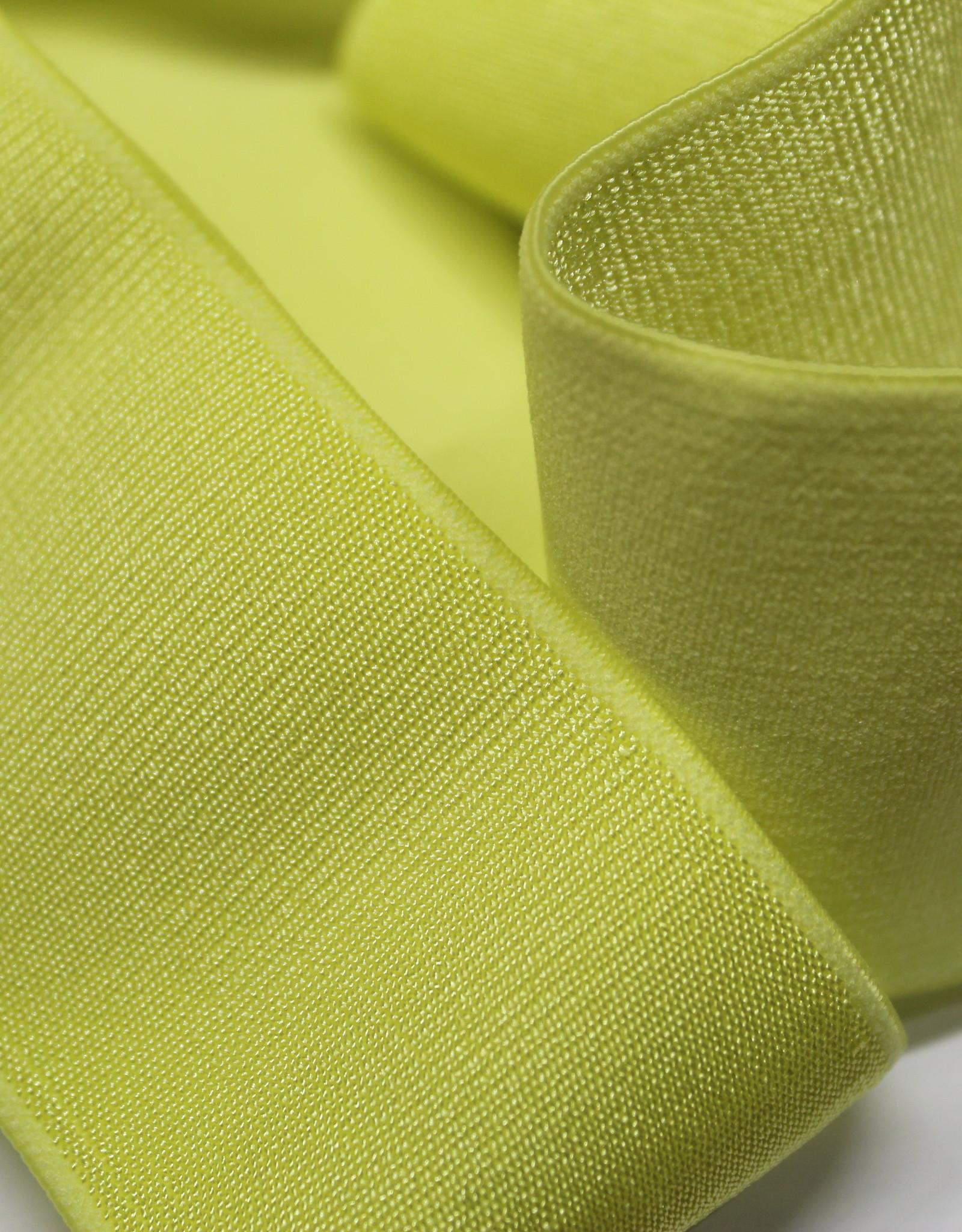Elastiek glanzend geel 40mm