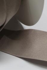 Elastiek glanzend taupe 40mm