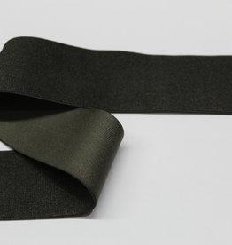 Elastiek glanzend donkerbruin 40mm