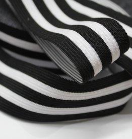 Elastiek gestreept zwart-wit-zwart-wit-zwart 35mm