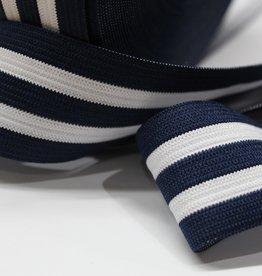 Elastiek gestreept blauw-wit-blauw-wit-blauw 35mm