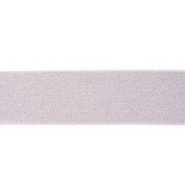 Glitter elastiek 50mm grijs/zilver