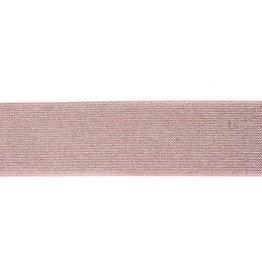 Glitter elastiek 50mm taupe/zilver