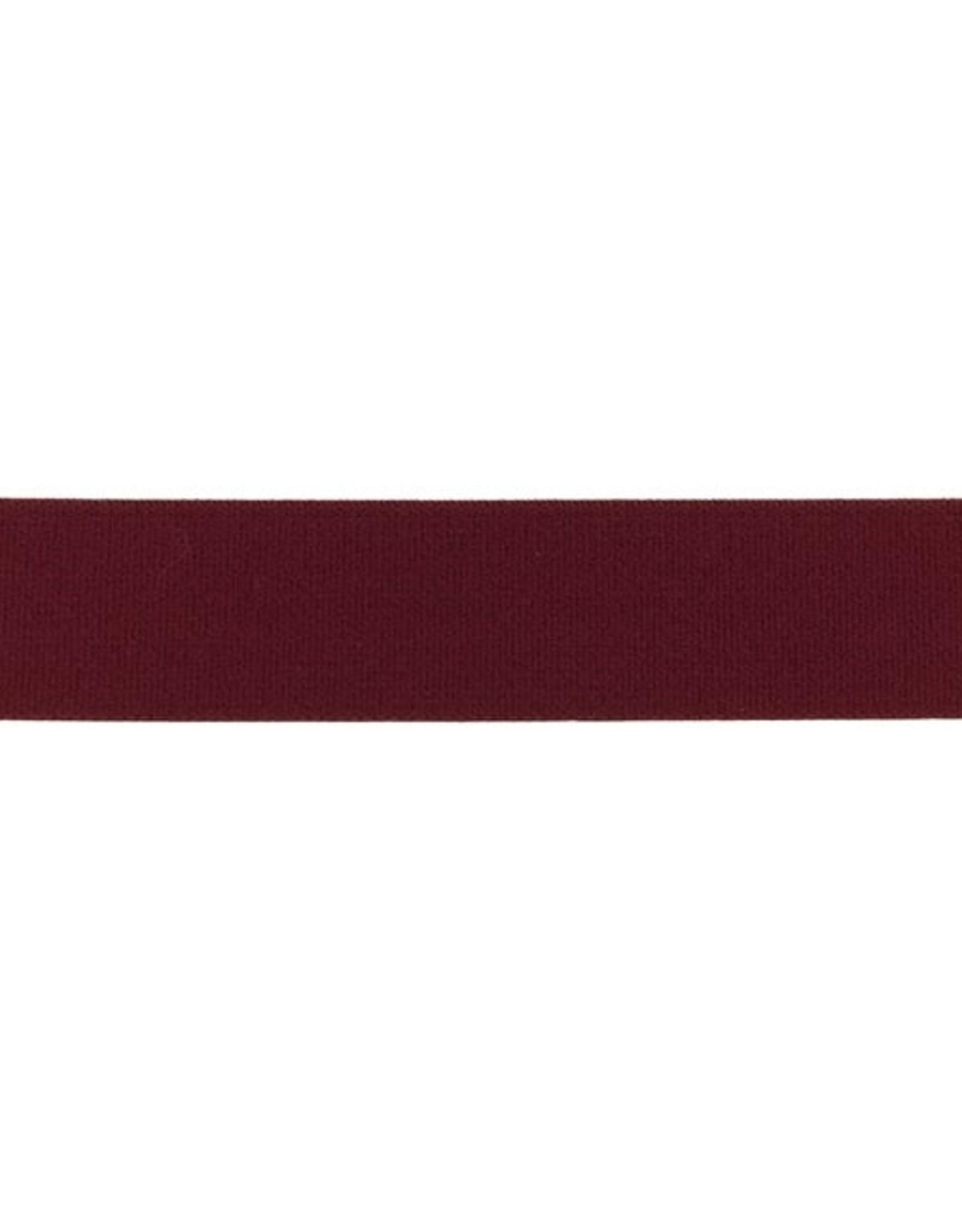 Malse elastiek 25mm uni bordeau