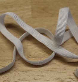 Elastisch lint 10mm geribbeld wit
