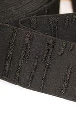 Elastiek zwart met structuur 45mm