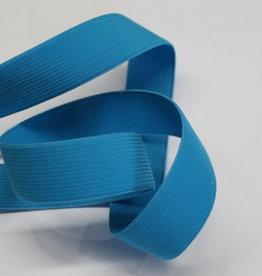 Elastiek uni aqua blauw 25mm -met structuur-