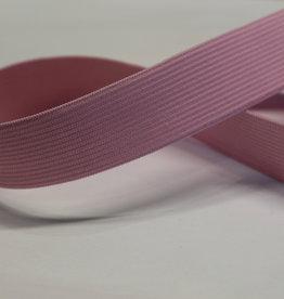 Elastiek uni roze 25mm -met structuur-