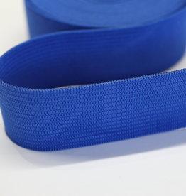 Elastiek uni koningsblauw 25mm -met structuur-