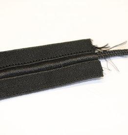 Elastiek met touw zwart 40mm