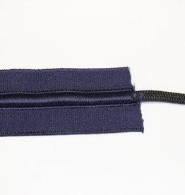 Elastiek met touw marine blauw 40mm