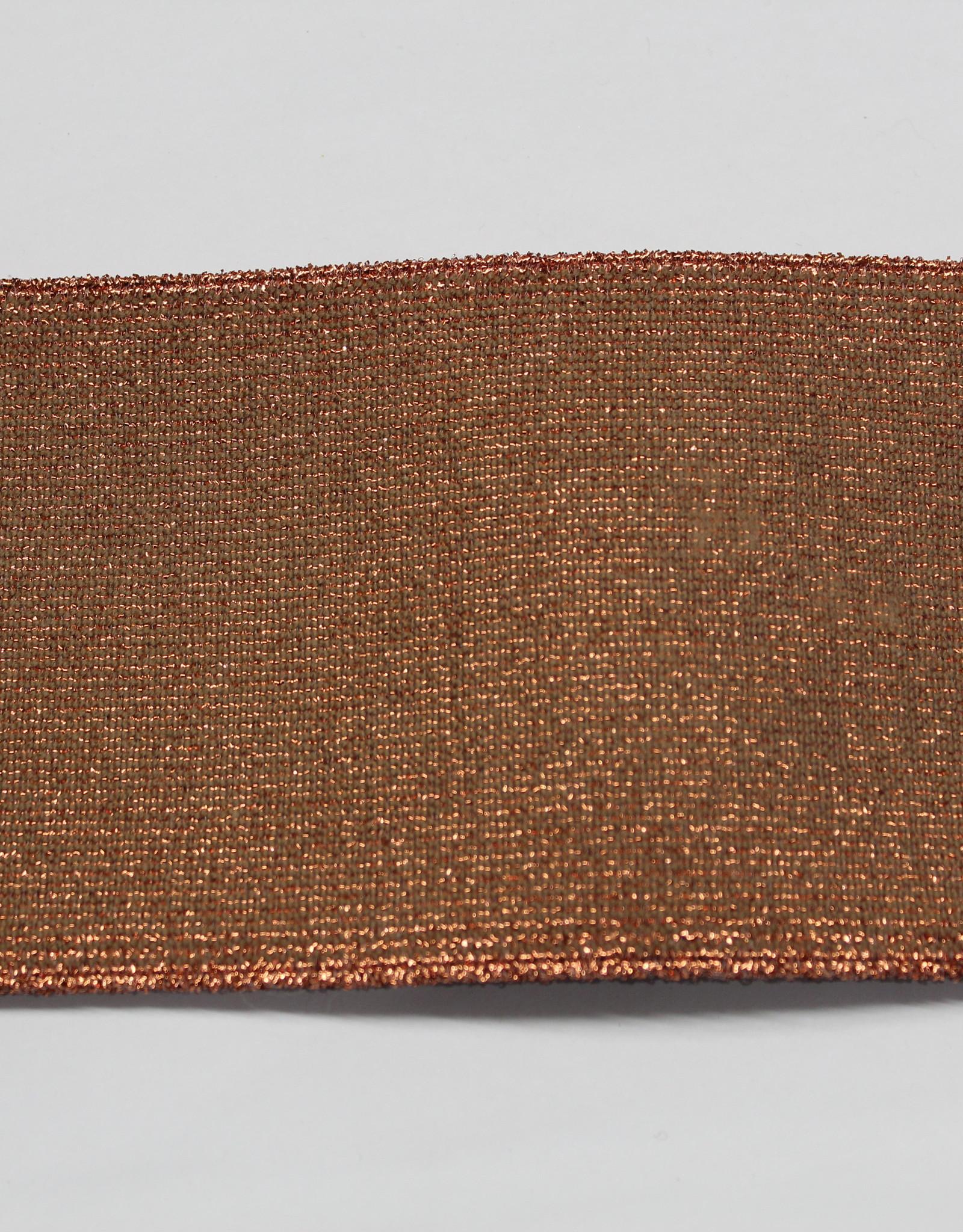 Elastiek koperen glitters 80mm