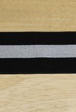 Elastiek zwart/wit/zwart 50mm