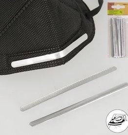 Strijkbare neusbrug voor mond-neusmaskers, 5mm x90mm zilverkleurig, per 20