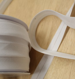 Biais polykatoen 20mm op rol wit