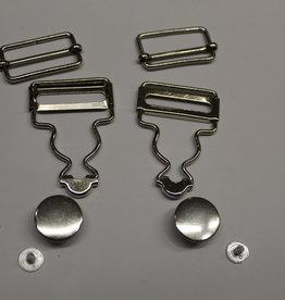 Pakket tuingesp + knoop + schuiver zilver 25mm (per2)