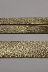 Biais metallic glitter 18mm op rol goud